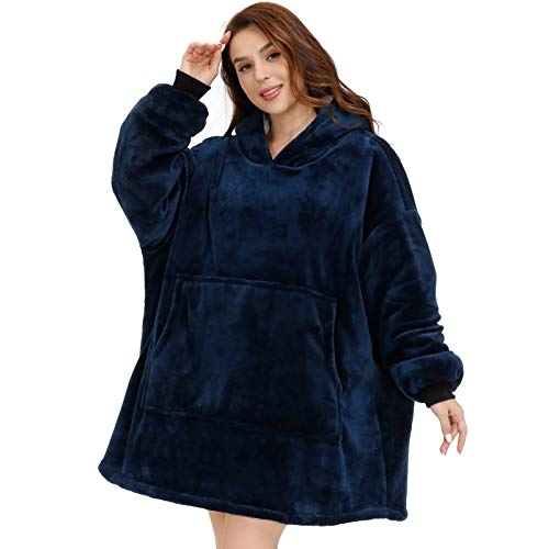 Pro Maison Causal Winter Blanket Hoodie with Big Pocket,...