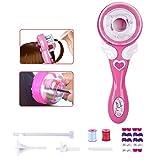 Dorakitten Hair Braiding Machine Cute Pink Magic Wand Electric Quick Automatic Hair Twister Quick Hair Braider Hair Tool with Multicolor Bead for Kids Girls