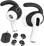 AhaStyle 3 pares de AirPods Pro ganchos de oreja para auriculares, accesorios [bolsa de almacenamiento añadida] compatible con Apple AirPods Pro 2019 (negro)