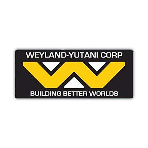 "EW Designs Weyland Yutani Corp Sticker Multicolor Decal Adhesive Weyland-Yutani Corporation Bumper Sticker Vinyl Sticker Car Truck Decal 5"""