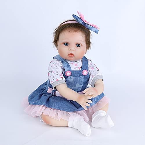 Scnbom 22pulgadas 55cm Reborn Muñecas Bebes niñas Realista Recién Nacido Toddler Dolls Silicona Vinilo niño Juguetes