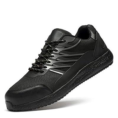 Amazon - Save 50%: BAOLUMA Men's Industrial & Construction Shoe Steel Toe Athletic Stylish Work…
