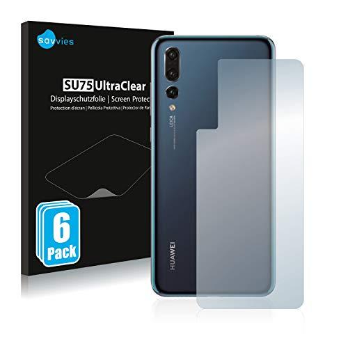 savvies 6-Pezzi Pellicola Protettiva Compatibile con Huawei P20 PRO (Posteriore) Protezione Schermo Trasparente