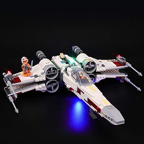 BRIKSMAX Kit de Iluminación Led para Lego Star Wars TM Caza Estelar ala-X, Compatible con Ladrillos de Construcción Lego Modelo 75218, Juego de Legos no Incluido