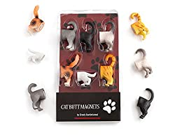Image: Kikkerland Cat Butt Magnets | Includes 6 different breeds