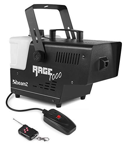 BeamZ Rage 1000 Smoke machine 2 L Negro, Blanco 1000 W - Máquina de humo (1000 W, 220 - 240 V, 50 Hz, 170 mm, 360 mm, 225 mm)