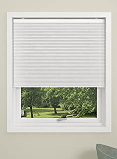 DEBEL Blackout Pleated Blind, Touch, Fabric, White, 90 x 210 cm