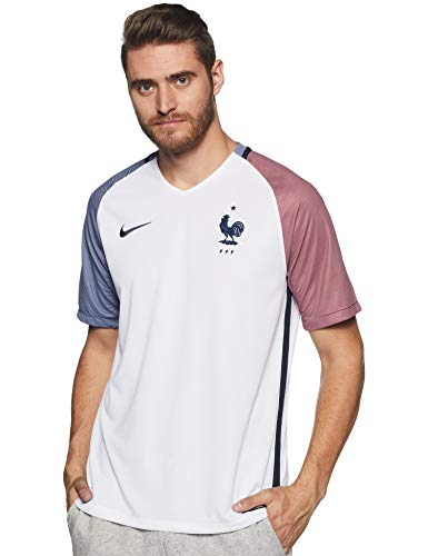 Nike Herren Trikot France Away Stadium Jersey Frankreich National Fußballtrikot, Weiß/Dunkel Obsidian, L