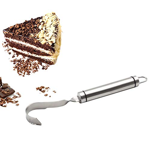 Rascador de chocolate, espátula de acero inoxidable para chocolate, queso, duradero y fácil de limpiar para hacer pasteles de bosque negro