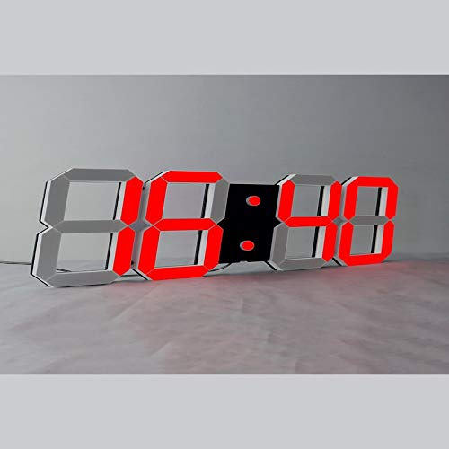 Bubbry LED spiegel wekker digitale afstandsbediening Wake Up Light hol Design 3D