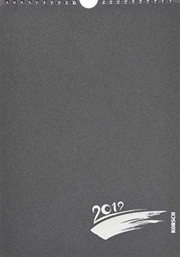 FMB anthrazit Prägung A4 267919 2019: Fotokalender zum Selbstgestalten. Do-it-yourself Kalender mit festem Fotokarton und edler Folienprägung.