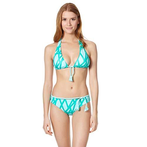 Vilebrequin - Top Bikini Donna all'Americana Ribbon Bicolor - Veronese Verde - XL