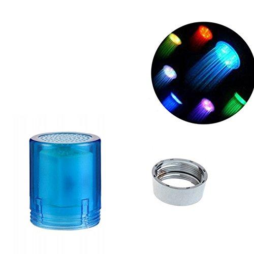 Homyy sensore di temperatura dell' acqua del rubinetto con luci LED colorate che cambia colore filtro per lavello bagno cucina accessori, Multicolore, Taglia libera