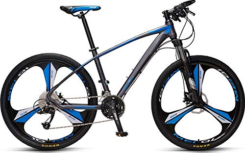 Mountain bike per mountain bike per adulti senza marchio Forever Hardtail con sedile regolabile, YE880, 27,8 cm, 33 velocità, telaio in lega di alluminio, grigio-blu, un pezzo di cerchio in lega