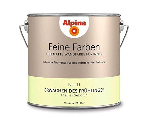 Alpina 2,5 L. Feine Farben, Farbwahl, Edelmatte Wandfarbe für Innen (No.11 Erwachen des Frühlings -
