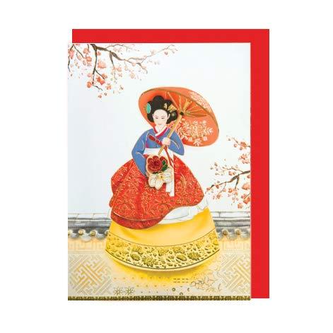 韓国 メッセージカード (韓服)ファンジニ■messagecard-ft226-5-s【ギフト】【お土産】