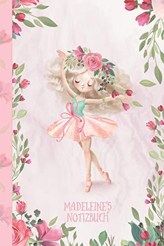 Madeleine's Notizbuch: Zauberhafte Ballerina, tanzendes Mädchen
