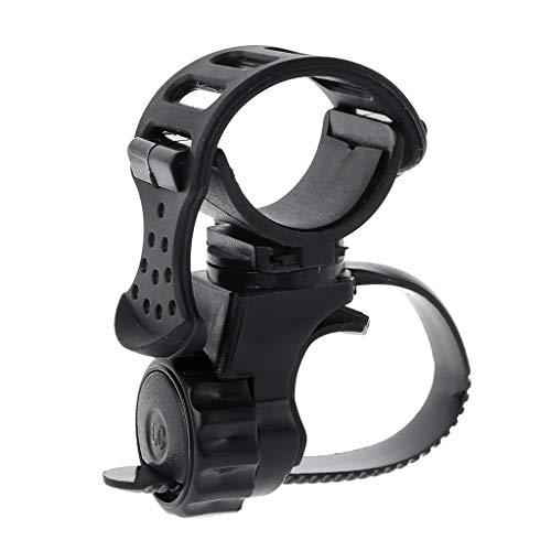 fivekim Metal Detector Bike Flashlight Holder Pin Pointer Holder Flashlight Mount Adapté àLes s de détecteurs souterrains