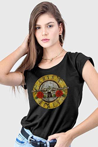 Camiseta Guns N' Roses Logo Bullet Feminina (M)