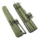 BestCool Bolsa de aparejos de pesca, portátil, bolsa de doble capa, bolsa de almacenamiento de herramientas Oxford para caña de pescar, organizador de transporte para pescadores y pesca al aire libre