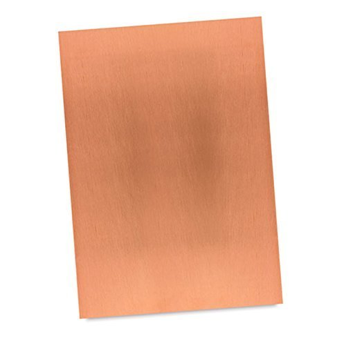"""Artist Copper Etching Plate Sheet - Polished for Printing & Intaglio printmaking (2 x 3"""")"""