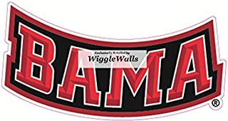 5 Inch BAMA University of Alabama Crimson Tide ACT Logo Removable Wall Decal Sticker Art NCAA Home Room Decor 5 by 2 Inches
