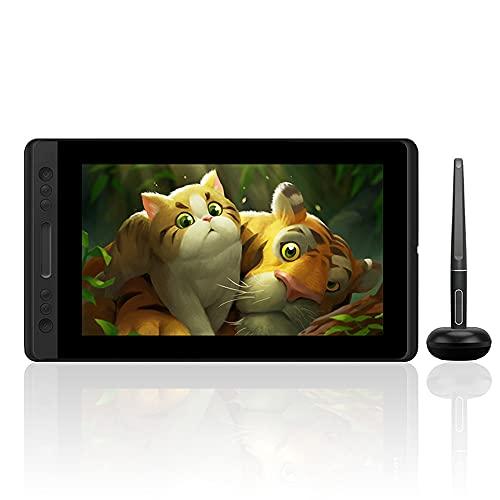 Xyfw Soporte De Inclinación Lápiz Sin Batería Monitor De Pantalla De Tableta De Dibujo Gráfico con Teclas Express Y Barra Táctil