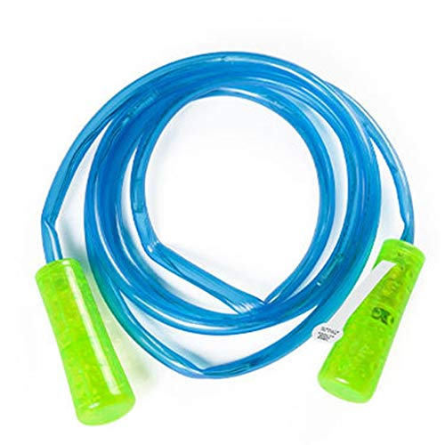 OOEOO Jump Rope for Kids Colorful Light Up Jump Rope Led Glow in The Dark Skipping Rope Light Fun Toy Home Exercise (Blue)