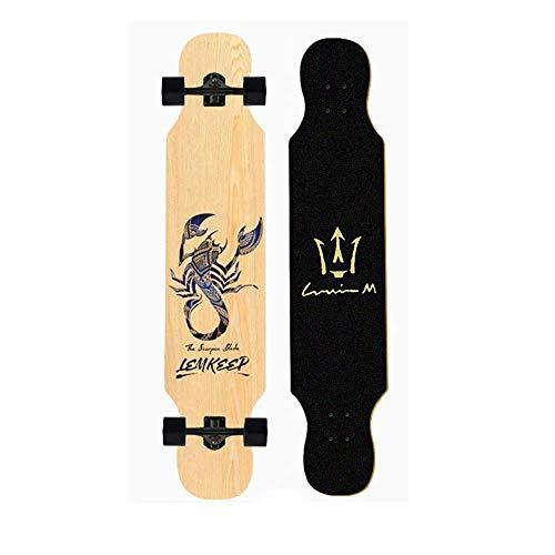 Nfudishpu Longboards Skateboard-42 'Pro Small Longboard Carving Cruising Skateboard-für Erwachsene Jugend Kind Anfänger Mädchen und Jungen