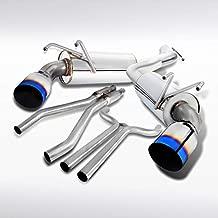 Autozensation For Camaro 3.6L V6 Dual Catback Exhaust System Muffler Titanium Tip Burnt Tip