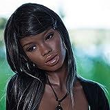 TPEシリコン リアルドール ヘッド顔 頭 厚い唇アフリカ系黒い美人 ラブドール #88 sex doll head 等身大 愛の人形ベッド