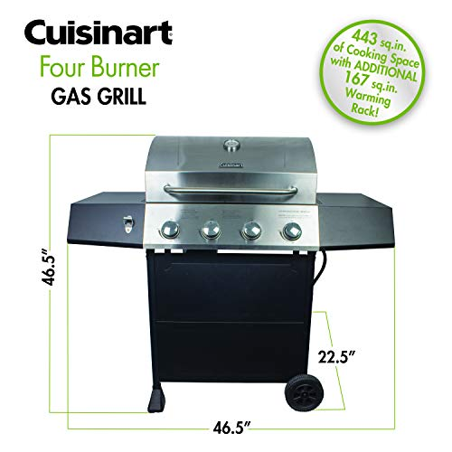 Cuisinart CGG-7400 Propane, Full Size Four-Burner Gas Grill