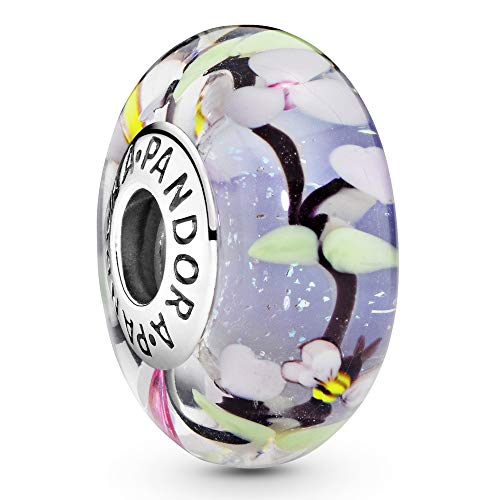 Pandora Moments Charm Gartenszene Sterling Silber, Muranoglas 797014