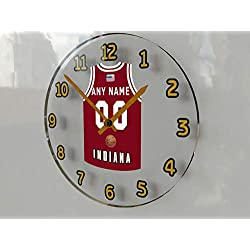 FanPlastic College Basketball USA - We're Number ONE College Hoops Wall Clocks - Support Your Team !!! (Indiana Hoosiers)