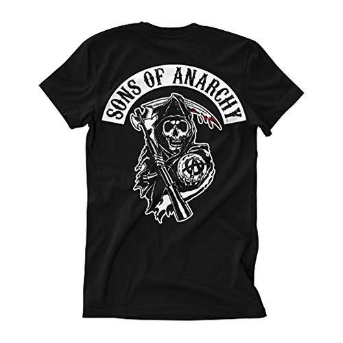 Officially Licensed Merchandise SOA Backpatch T-Shirt (Black)