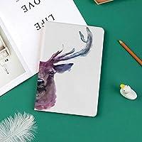 おしゃれな新しい ipad pro 11 2018 ケース 傷つけ防止 二つ折 開閉式 防衝撃デザイン 超軽量&超薄型 全面保護型 (iPad Pro11 インチ)柔らかい淡い色の角を持つ男性クワガタのイラストアントラーズ野生動物自然巧妙な印刷物