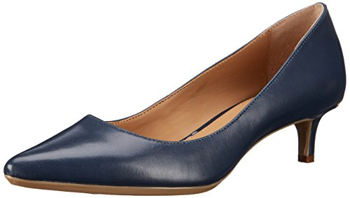 Calvin Klein Women's Gabrianna Pump, Navy Leather, 8 Medium us