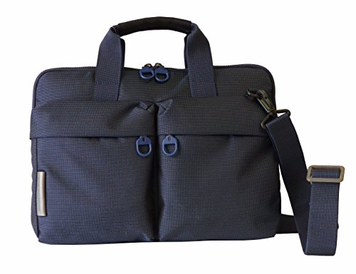 Mandarina Duck Tasche Slim Workbag P10QKC01 Aktentasche,Office Bag mit Laptopfach Blau(37 x 28,5 x 3 cm)