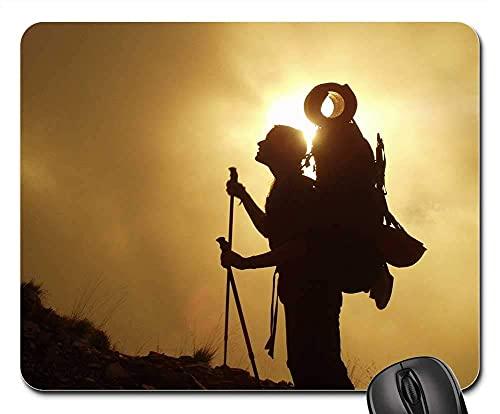 Mauspad Trekking Wandern Bergsteigen Rucksack Reisen Gaming Mousepad Anti Rutsch Gummiunterseite Hochwertiges Mausunterlage Multifunktionales Gaming Mausmatte Für Laptop/Pc, 25X30 Cm