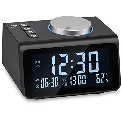 Small Digital Alarm Clock Radio - Dual Alarm, 7 Wake-up So...