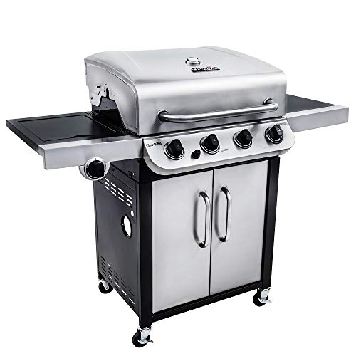 Char-Broil Convective 440 S - 4 Brenner Gasgrill mit Seitenbrenner, Edelstahl.
