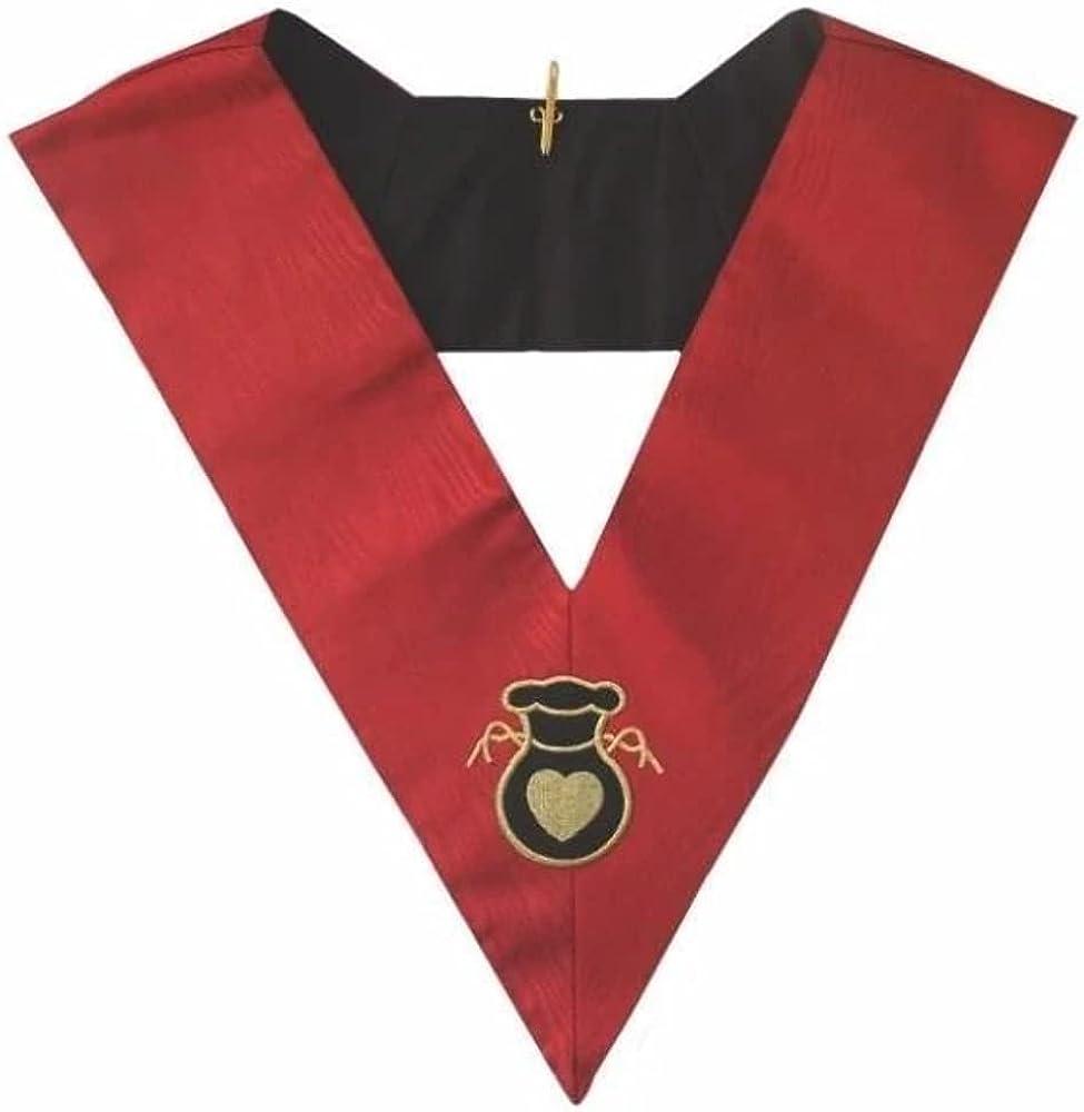 Masonic AASR collar 18th degree - Knight Rose Croix - Almoner