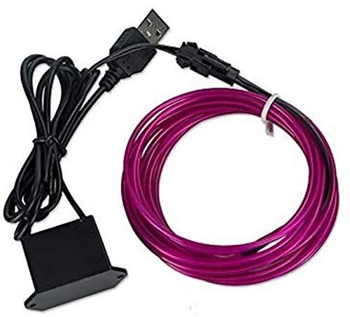 Luz de neón LED 10 Colores 5m Cable con Adaptador de Corriente Lámpara de Tira LED USB/Case/Caja de batería 3 Tipos Interfaz (Color: Naranja)