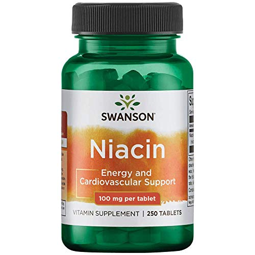Swanson Niacin (B3) Cardio Health Support Carbohydrate Metabolism 100 Milligrams 250 Tabs