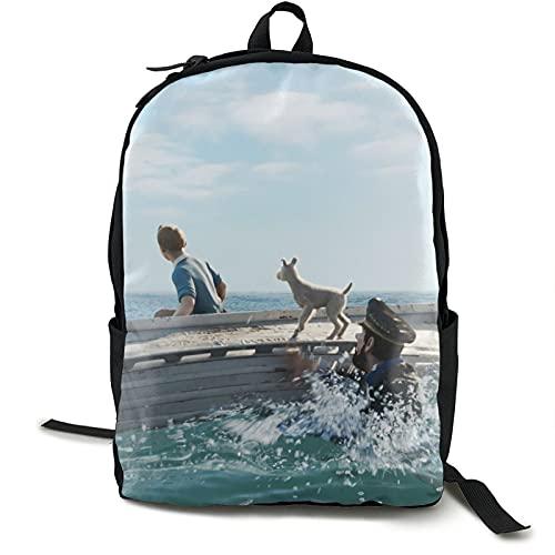 The Adven-Tures 0f - Mochila de viaje resistente al agua para ordenador portátil, mochila universitaria para mujeres y hombres, mochila de negocios