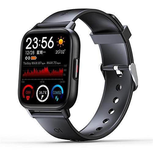 BFL 2021 Smart Watch Hombres Temperatura Corporal Temperatura Monitor De Ritmo Cardíaco DIY Reloj Impermeable Deportivo Pulsera Smartwatch Mujer para Android iOS,A