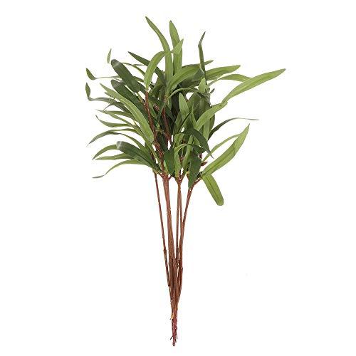 dressplus Paquete de 10 piezas para regalo de boda, fiesta, arreglo floral, adorno de boda, hojas de eucalipto artificiales, tallos verdes con semillas (tipo 2)