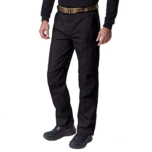 FREE SOLDIER Men's Water Resistant Pants Relaxed Fit Tactical Combat Army Cargo Work Pants with...