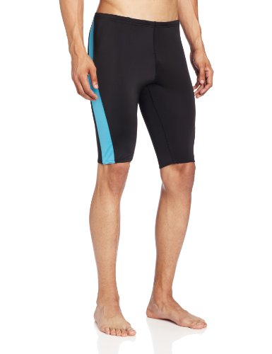 Kanu Surf Men's Competition Jammers Swim Suit, Black/Blue, 32