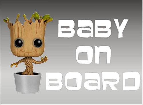 Groot Baby on Board/Guardians of The Galaxy/Vinyl Vehicle Graphics Kids Window Sticker Decal